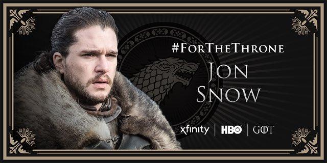 Yessssss! 🐲❄️ @HBO @Xfinity  @GameOfThrones  #ForTheThrone #GamesOfThrones #SundayThoughts