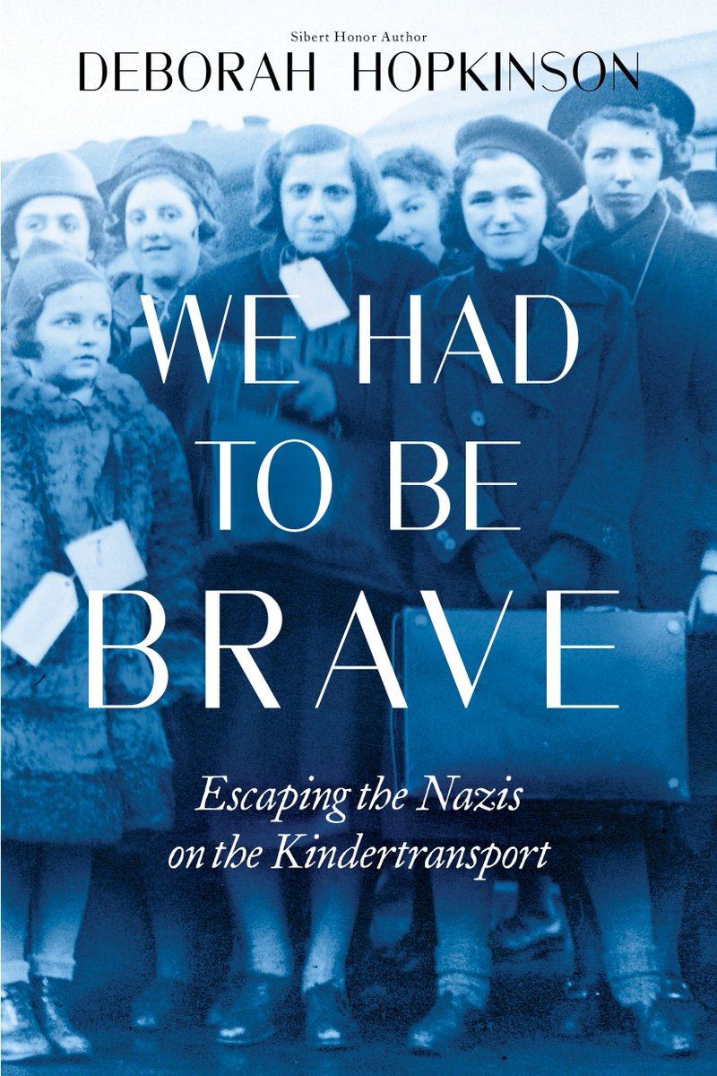 Ruth David just turned 90. When she was 10, her parents sent her to England on the Kindertransport. Ruth graciously allowed me to tell her family&#39;s story of the #Holocaust in WE HAD TO BE BRAVE, coming in 2020 from #scholasticfocus @Scholastic. Here is the cover.<br>http://pic.twitter.com/ZirgzJ70jB