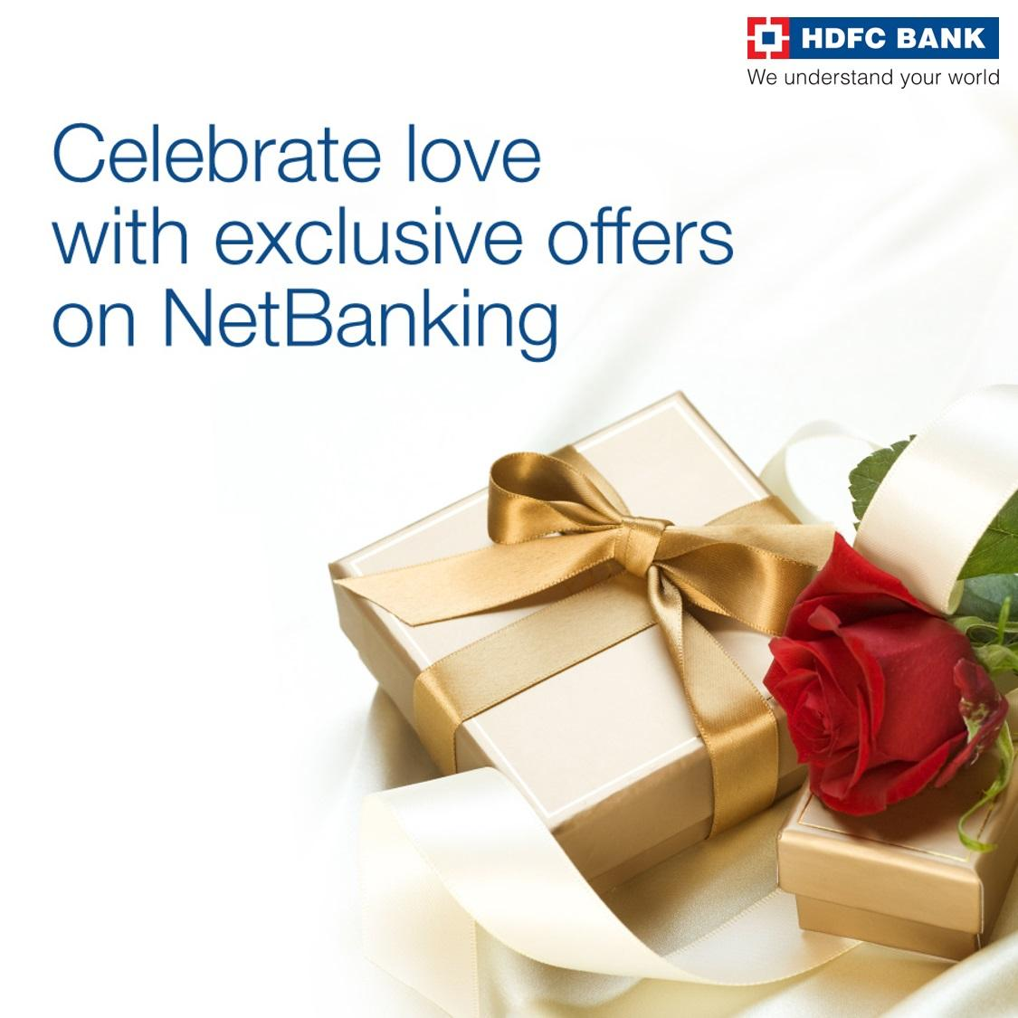 Make #ValentinesDay truly special with #NetBanking offers on leading brands. For offers click  http:// bit.ly/HDFCValentine  &nbsp;  <br>http://pic.twitter.com/J5ll2BwnCG