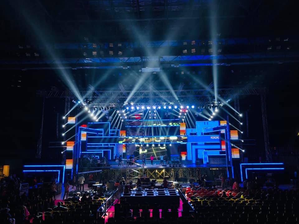 Set for super singer finale @vijaytelevision