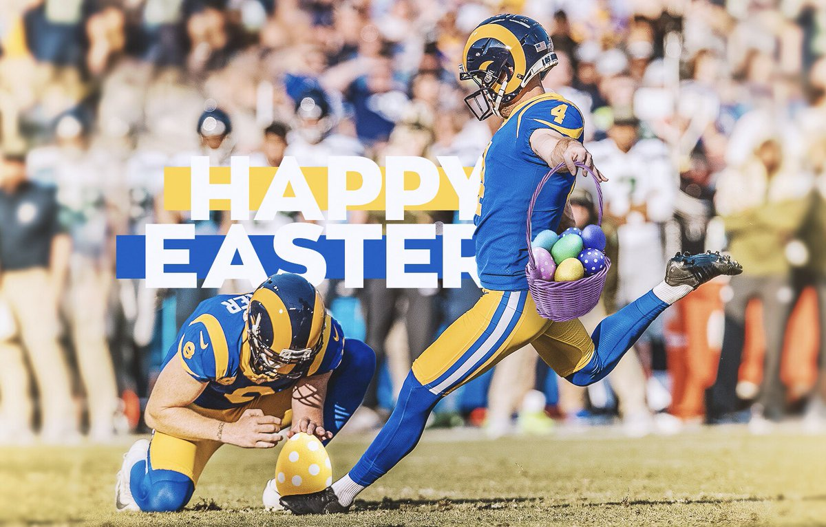 Happy Easter from the #LARams! 🐣