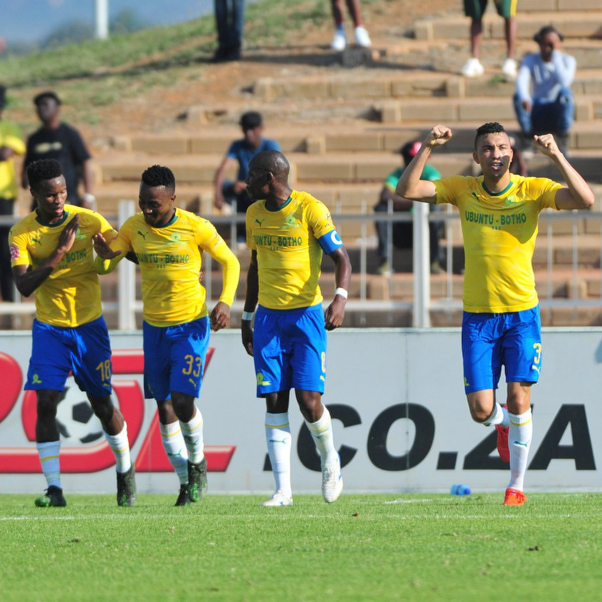 Mamelodi Sundowns closed the gap at the top of the Absa Premiership table to within three points on Saturday afternoon following a 2-1 victory away to Baroka FC, with goals coming from Ricardo Nascimento and Themba Zwane in either half.  Full Story: https://bit.ly/2VWqzrC