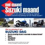 @Motostore_B - Mei maand is Suzuki maand bij Motostore Barendrecht! Met als klapstuk de Suzuki dag op 11 mei #suzuki #suzukimaand #suzukidag #katana #demos #wheeliebank #hansworst https://t.co/9qSSgOEQVr