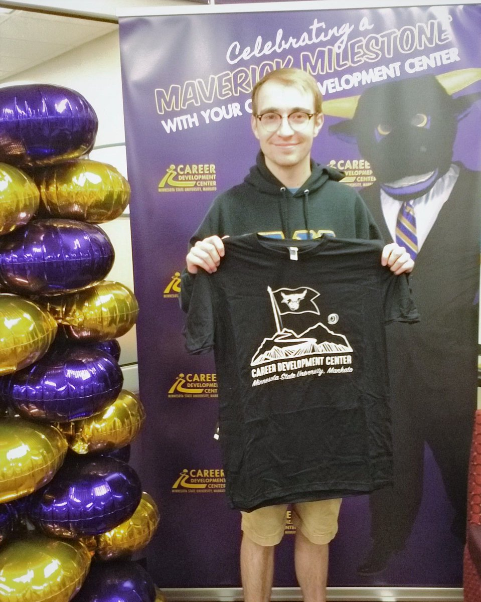 What's your MAVERICK MILESTONE? William Camden is celebrating his MAVERICK MILESTONE as he is graduating from @MNSUMankato this May with a degree in Psychology and HR Management! Congratulations, William!  #maverickmilestone #MNSU #careerdevelopment #mavericks #careerpath