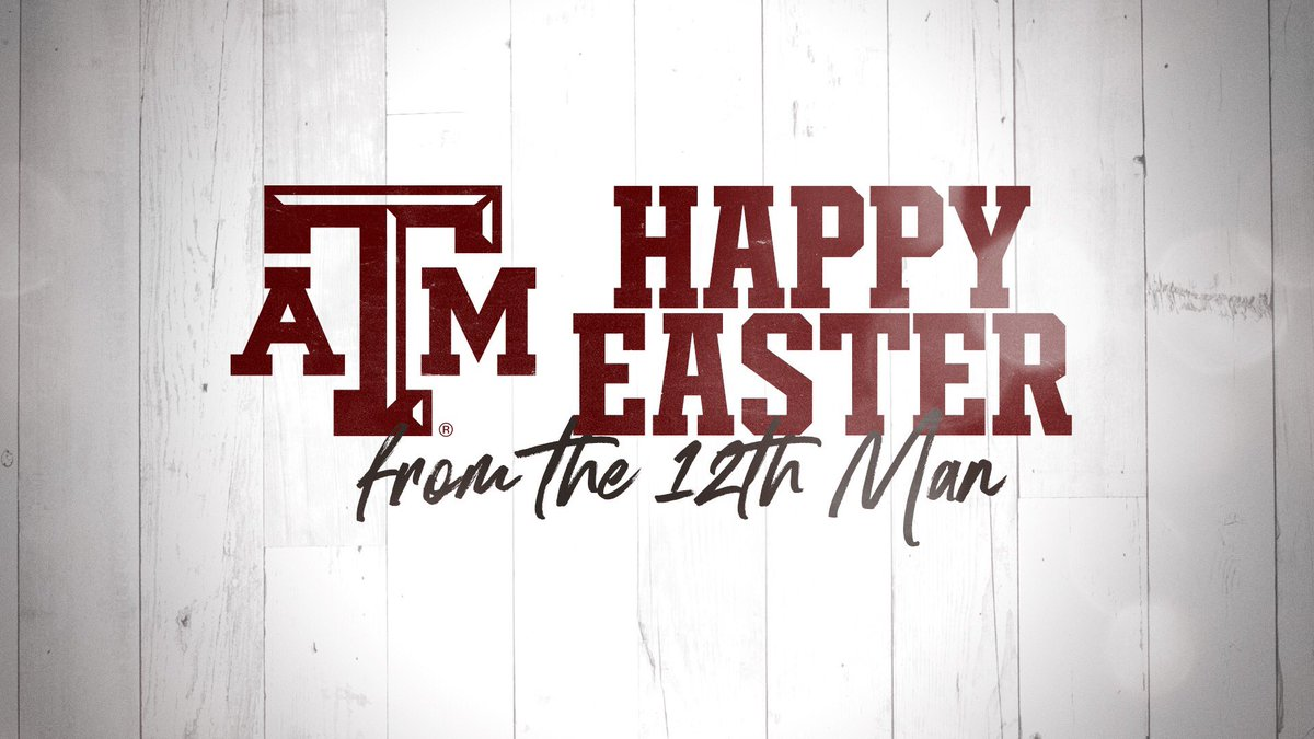 Happy Easter from all of us at Texas A&M Athletics!  #GigEm