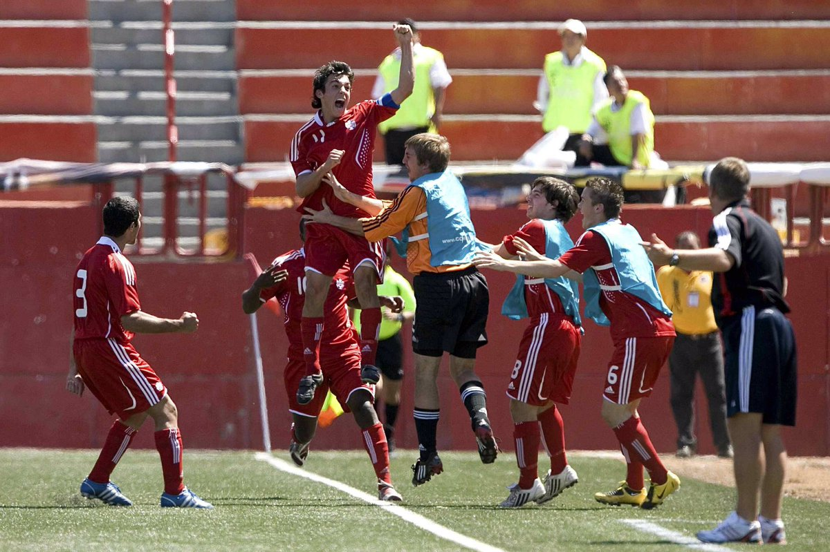 #OnThisDay 2009: Russell Teibert opened the scoring in a 1:1 draw with Honduras at the Concacaf Men's Under-17 Championship in Tijuana. #canm17 ➡️ #CANMNT