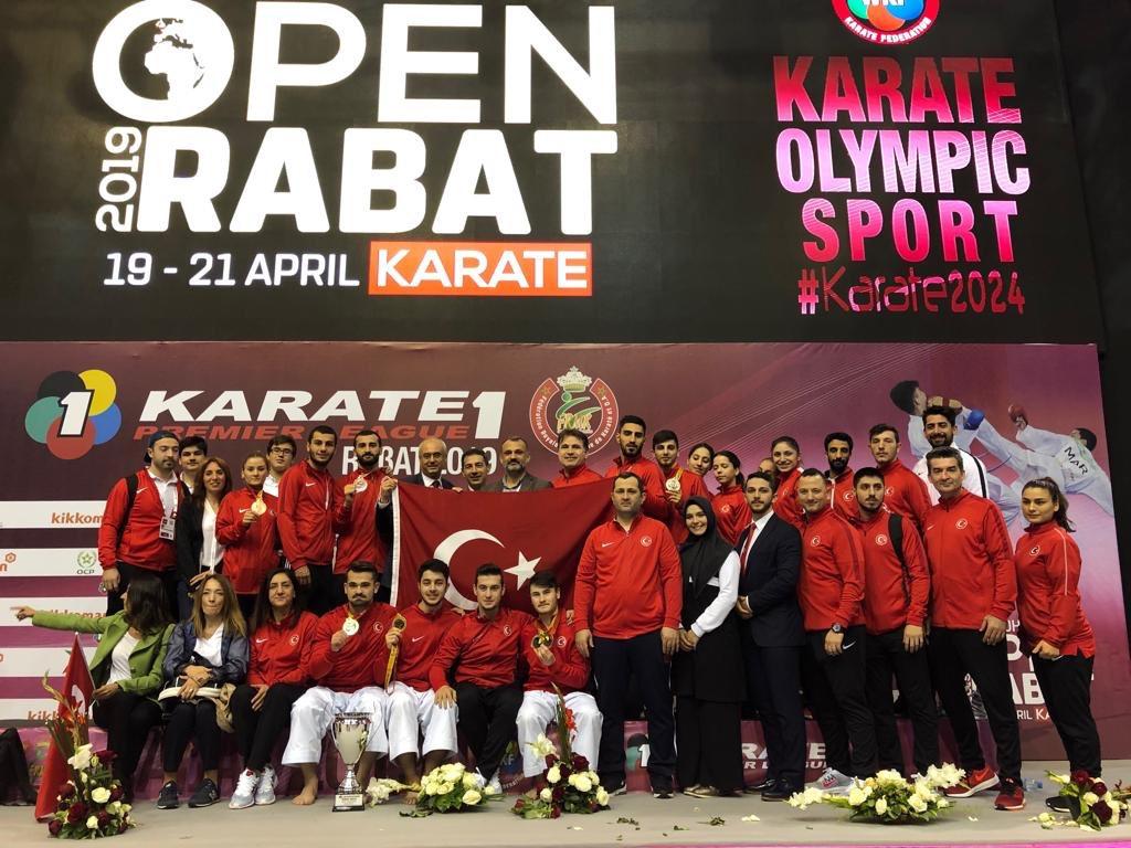 #Tokyo2020 Olimpiyat Oyunlarına kota puani veren Karate 1 Premier Lig'in üçüncü etabı Rabat'ta olimpik havuz sporcularımız 3 altın, 3 gümüş ve 4 bronz madalya kazandi.  TEBRİKLER 🇹🇷🇹🇷🇹🇷  @kasapoglu @hamzayerlikaya @mehbaykan @kocakaya_murat @Karateturk