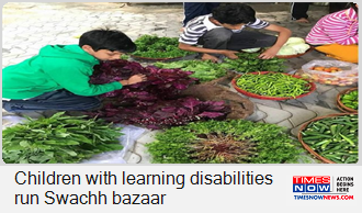 Children with learning disabilities run weekly Swachh organic bazaar in Hyderabad   Click here: https://is.gd/RGiRlc