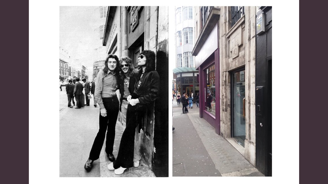 Arlette House, 143 Wardour Street, London (opposite Trident recording studios) - Early 1970's and 2017 comparison @OIQFC #Queen #FreddieMercury #BrianMay #johndeacon #RogerTaylor #London https://t.co/q6BqbCbO85