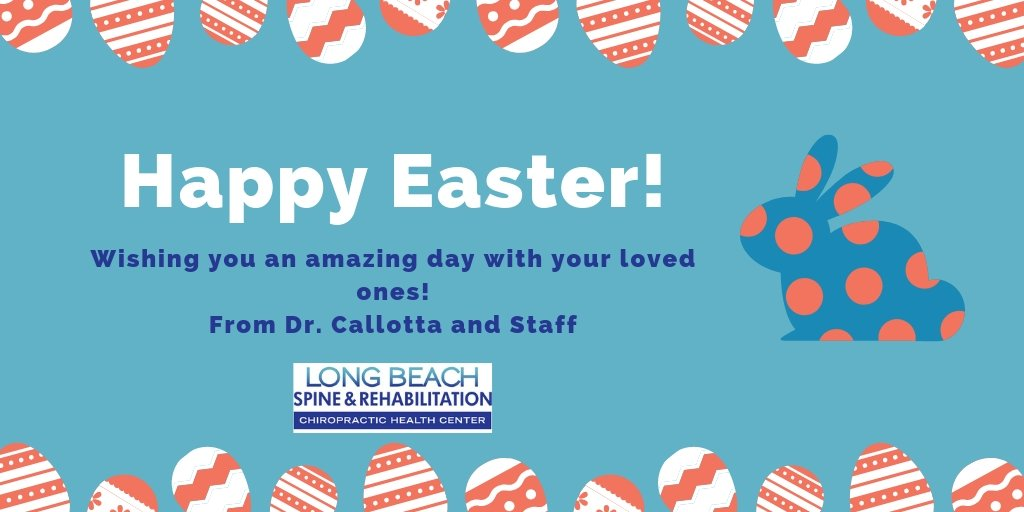 Happy Easter! From Dr. Callotta and the staff at Long Beach Spine and Rehabilitation Chiropractic Health Center! #health #wellness #longbeachchiro