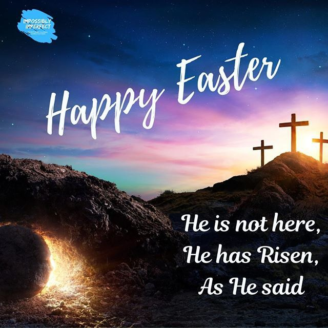"""""""He is not here, He is indeed Risen, as He Said"""" I wish you a Blessed Easter #HappyEaster2019 #hehasrisenindeed #happyeaster #easter #morethanabunny #emptytomb #love #blessed #thankful #grateful #godisgood #redeemed #sundayishere #blogger #Jesus #livedaperfectlife #allforus …"""
