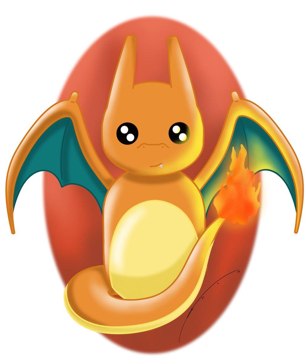 My new cuter style ^^  Do u like it?  #pokemon #kawaii #cute #charizard