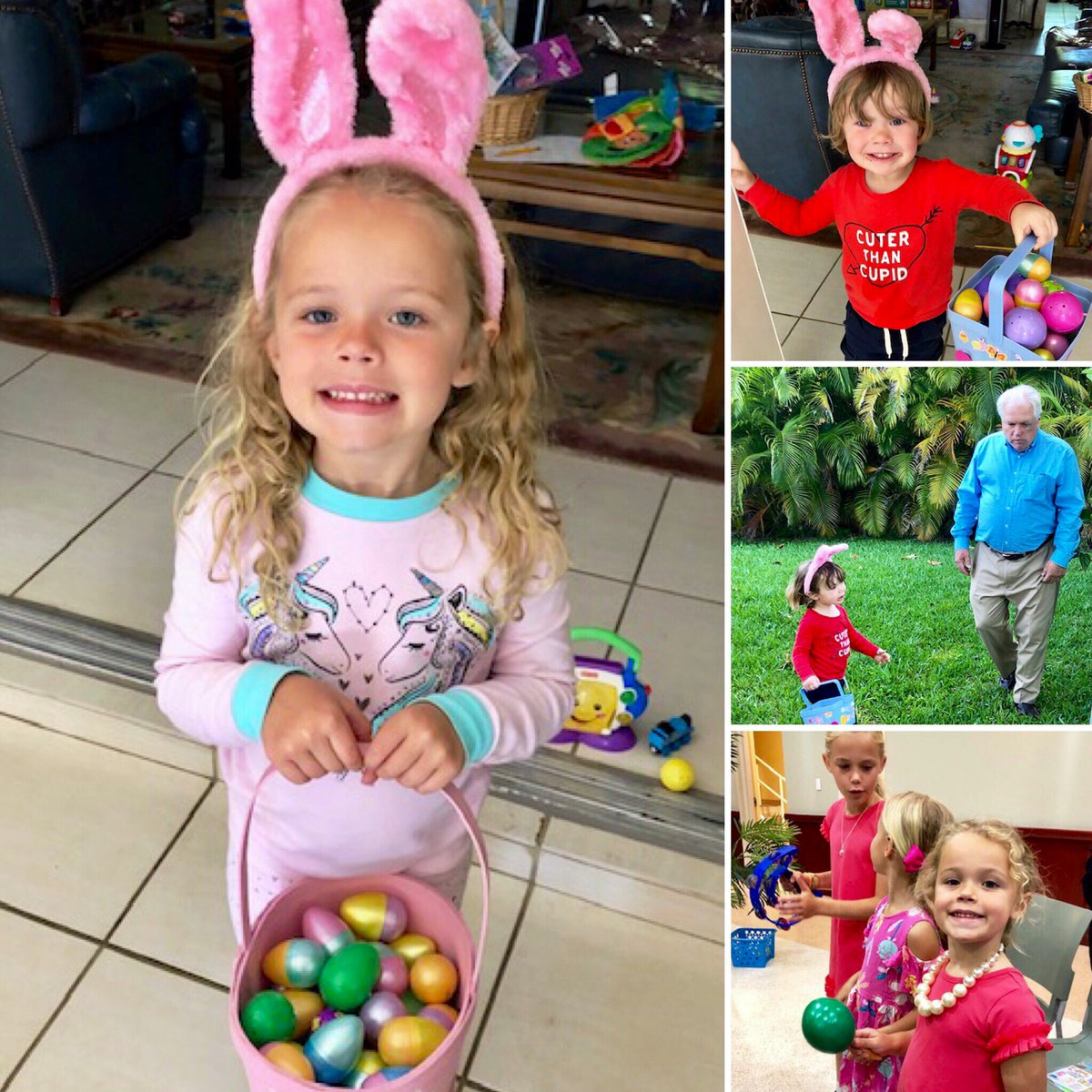 Oh my goodness! A joyous #EasterSunday with los nietos!   From our family to yours, Happy Easter & many blessings to all in #SoFla who celebrate.