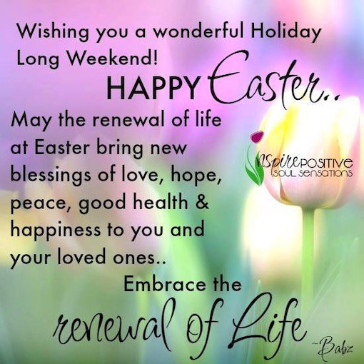 #HappyEaster Jerry and all of you beautiful souls !!   Much Love, Joy & Blessings to all 🙏🏼💜🌟😊💫💫💫  #KeepSharingLove #KeepLightUpTheLove #KeepSparkling ✨💛💜💗💙💚💖💛✨  #ThinkBIGSundayWithMarsha  #JoyTrain #SuperSoulSunday