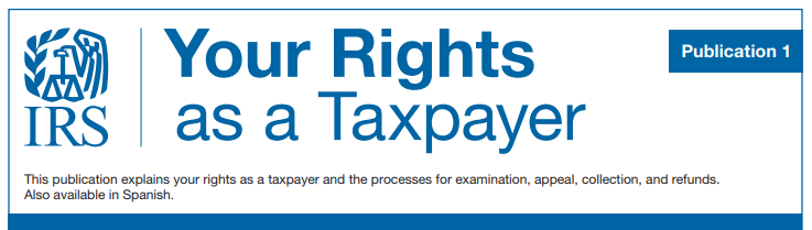 IRS Publication 1 outlines your rights as a taxpayer. #TaxSavingAcademy #BusinessOwner #SmallBusiness #Entrepreneur #Taxes #TaxTime #TaxDeduction #IRS #IRSAudit