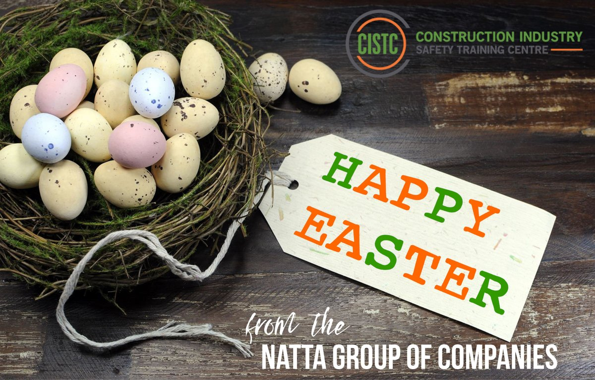 Wishing you a very Happy and Eggstatic Easter from all at CISTC #HappyEaster #Construction #Training #UpSkill #healthandsafety
