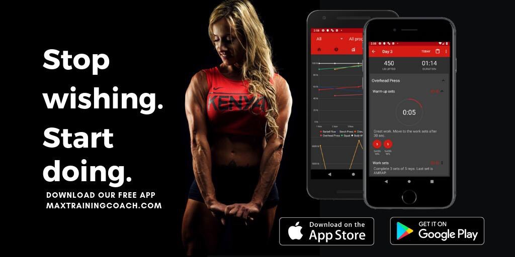 Start working out today with our free app. Available on Android and iOS. http://MaxTrainingCoach.com  #fitness #bodybuilding #powerlifting #fitness #gains #FitnessMotivation #gym #bodybuilder #weightlifting #Training #lifting #StrengthTraining #workouts #fitnessaddict #Powerlifting