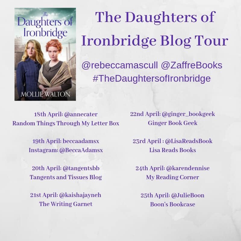 ❃●❃#BlogTour❃●❃ @rebeccamascull | @ZaffreBooks   The Daughters of Ironbridge by Mollie Walton  Buy link ➜ https://amzn.to/2IvOprk  Mortified! My #review didn't share onto Twitter yesterday 🤦🏼♀️ #Laurafail  Check out my 4🌟 review here ☟  https://www.facebook.com/270655513317709/posts/801681800215075?sfns=xmwa…