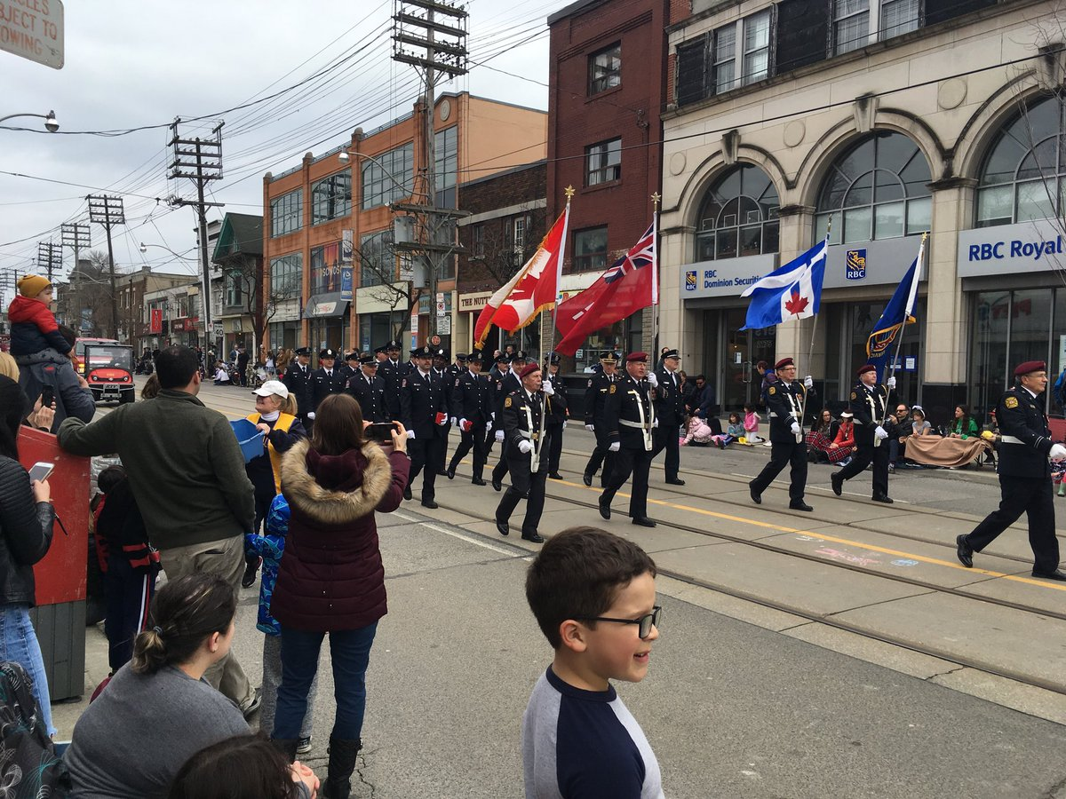 Walked down to the #Beaches in #Toronto to buy a birthday present for my nephew; had completely forgotten about the #Easter #parade