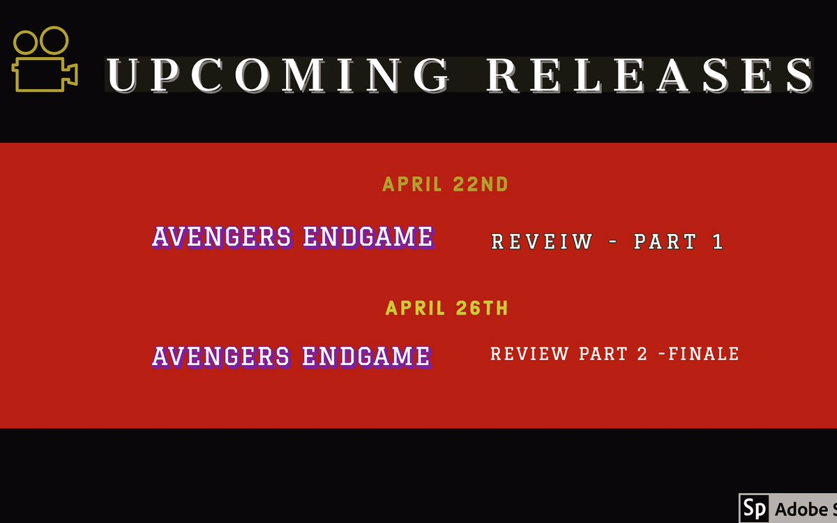 My review for Endgame will be into 2 parts check out the dates below. #review #AvengersEngame #MARVELFutureFight #MarvelRising #@BeyondReel #beyondthereel8 #AvengersEndgameleak #AvengersEndGameWestAfrica #Avengers4 #AvengersEndgameleak