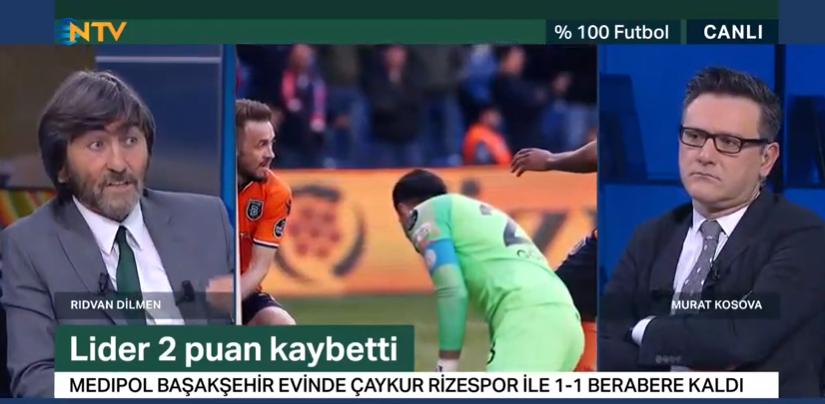 """Rıdvan Dilmen: """"Başakşehir puan kaybedince ipler Galatasaray'ın eline geçti.Yarın ki Sivas-Beşiktaş maçı da şampiyonluğu yakından ilgilendiriyor."""""""
