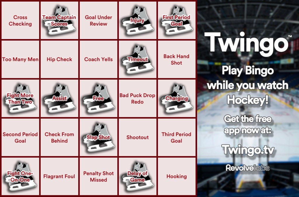 🏒 Get Twingo Bingo now and you can play during #Game6 this afternoon! Free app at http://Twingo.tv #nhl #mapleleafs #bruins #hockey #boston #toronto