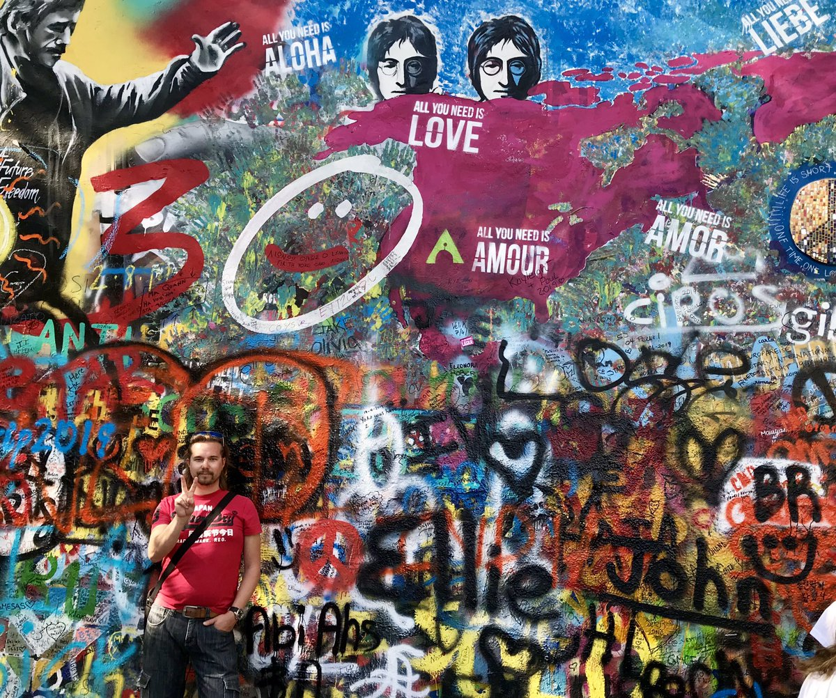 All you need is love. #johnlennon #wall #prague #peace