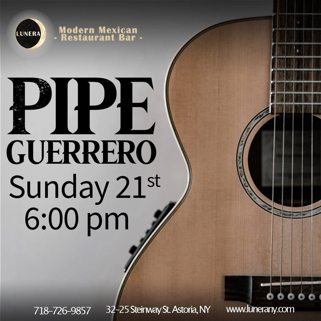 #SundayMotivation 😜✨🍹 and #PipeGuerrero Can't miss it! - #LuneraRestaurant #today #LiveMusic #Fun #Food #Drinks #musician #dance #musicismylife #musicianlife #sing #love #enjoy #drink #eat #acoustic