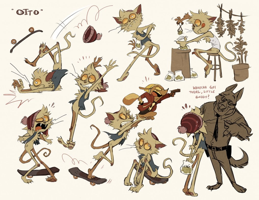 Good afternoon I present to yall the prototype designs for the Otto &amp; Bradley characters...Dolly was the hottest one @studioventi<br>http://pic.twitter.com/p7pH0EnKDO
