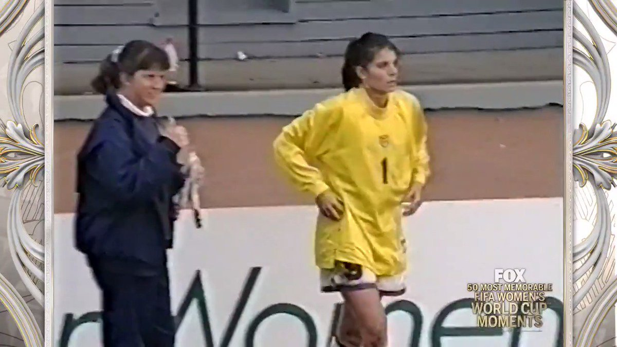 We're counting down the most memorable moments in FIFA Women's World Cup history!   No. 4️⃣7️⃣: That time @MiaHamm played goalkeeper 😂🇺🇸