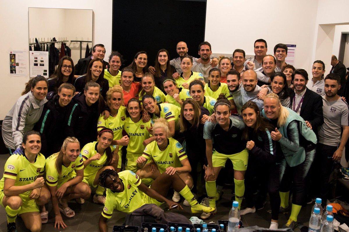 ⚽️ A T T I T U D E! Partidazo en Alemania para las semis de @uwcl ¡Volvemos a casa con la victoria, pero os necesitaremos en la vuelta! #futfem #championsleague #barça #porteras