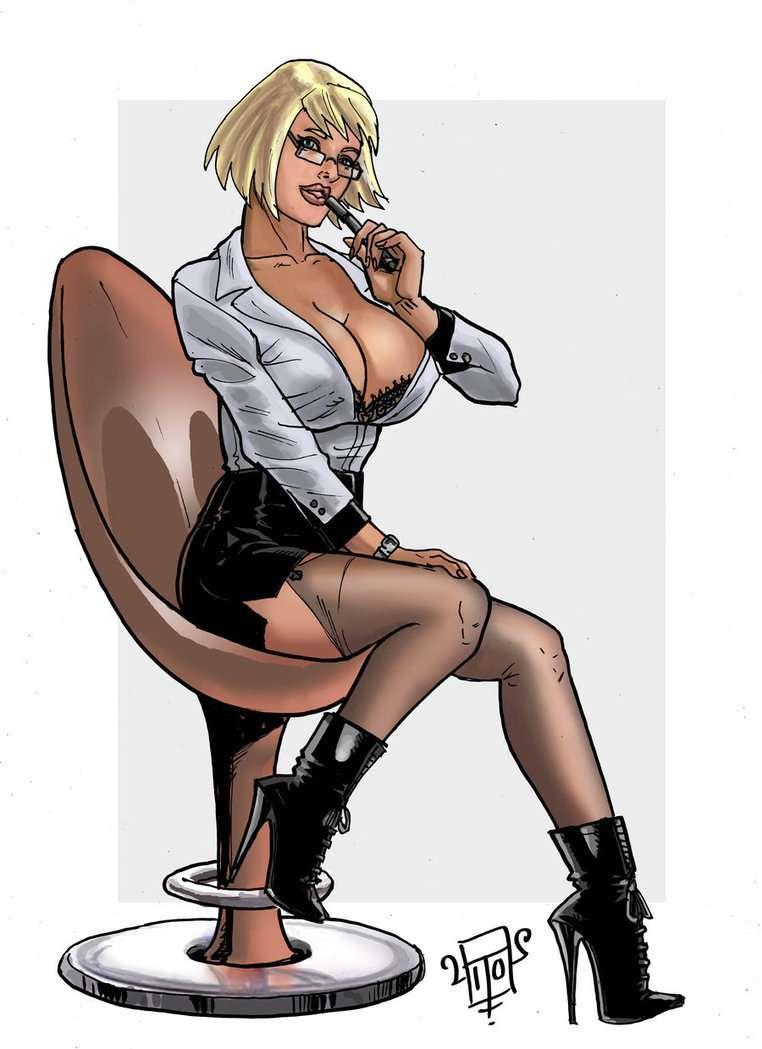 Порно Рисунки Секретарши