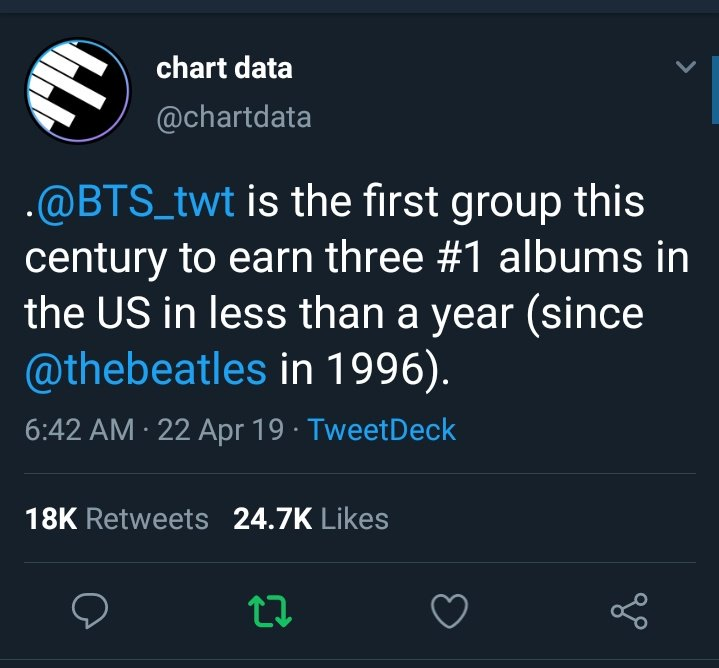 Namjoon wasn&#39;t lying when he said: &quot;2019 is gonna be BTS year one more time&quot;   NOBODY IS DOING THIS LIKE THEM #PersonaBillboardNo1 @BTS_twt<br>http://pic.twitter.com/9e0kv6WJ3w