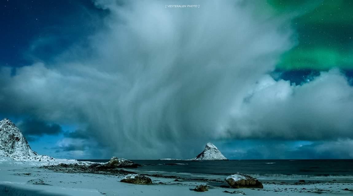 The storm, Vesterålen 🌩 Photo Frank Olsen #norway #travel #arctic #weather #photography @VisitVesteralen @Northern_Norway
