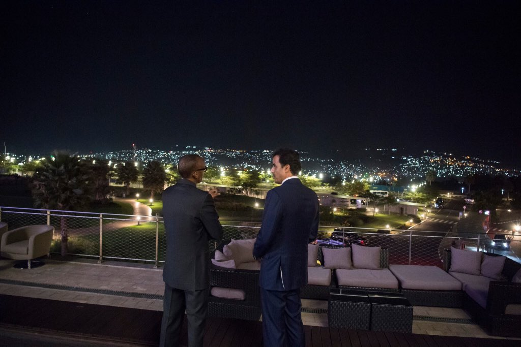 President Kagame is now welcoming    His Highness Sheikh Tamim Bin Hamad Al Thani @tamimbinhamad, the Emir of Qatar, who is on a three day State Visit to Rwanda