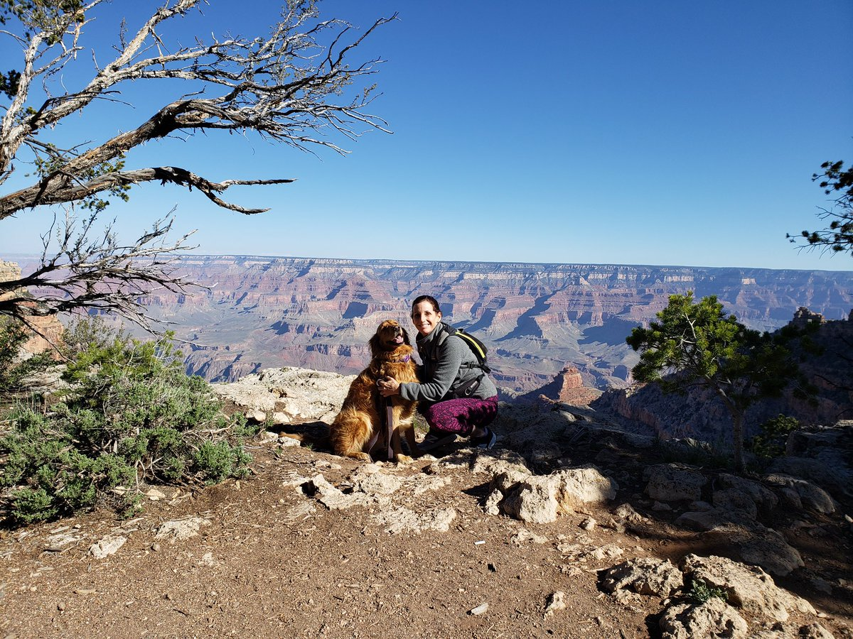 Happy Easter from me and Boomer at @GrandCanyonNPS!