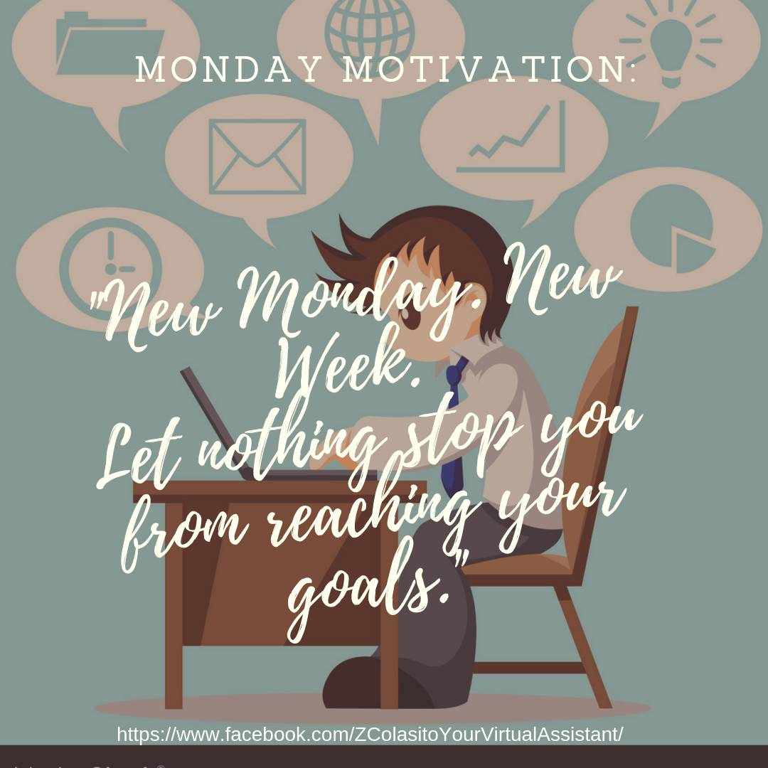 Monday Motivational quote &quot;New Monday. New Week.  Let nothing stop you from reaching your goals.&quot;<br>http://pic.twitter.com/4gZYmFfZSV