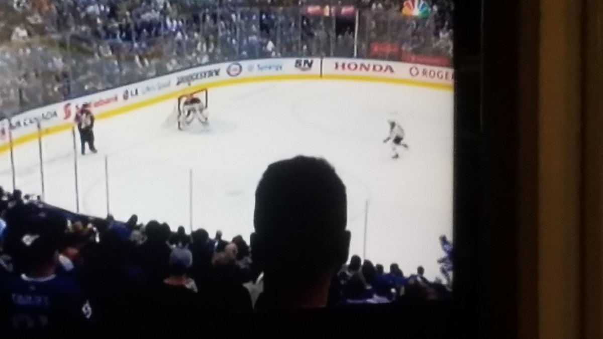 NBC explains why Maple Leafs fan's head blocked the action in playoff game against Bruins