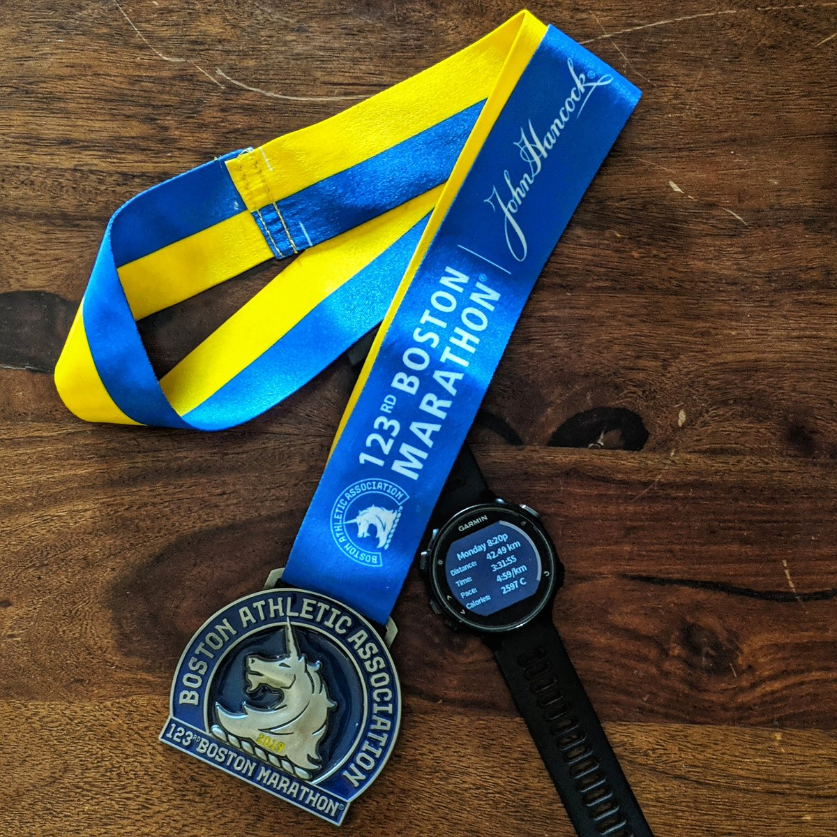 123rd Boston Marathon. One of my best &amp; toughest races so far. It&#39;s breaks you but it kills but in the end it&#39;s all so worth it. Thankyou @Garmin_India for  all the love and support #garmin #running #BostonMarathon #boston2019<br>http://pic.twitter.com/DvtlDim2Sk