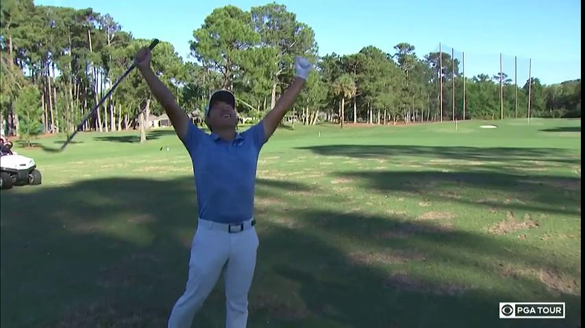 The look of jubilation. C.T. Pan is your @RBC_Heritage Champion.