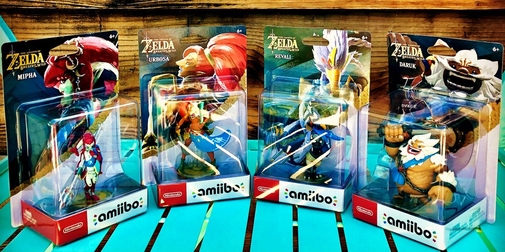 Get a complete set of all 4 Breath of the Wild Champion amiibo (1st