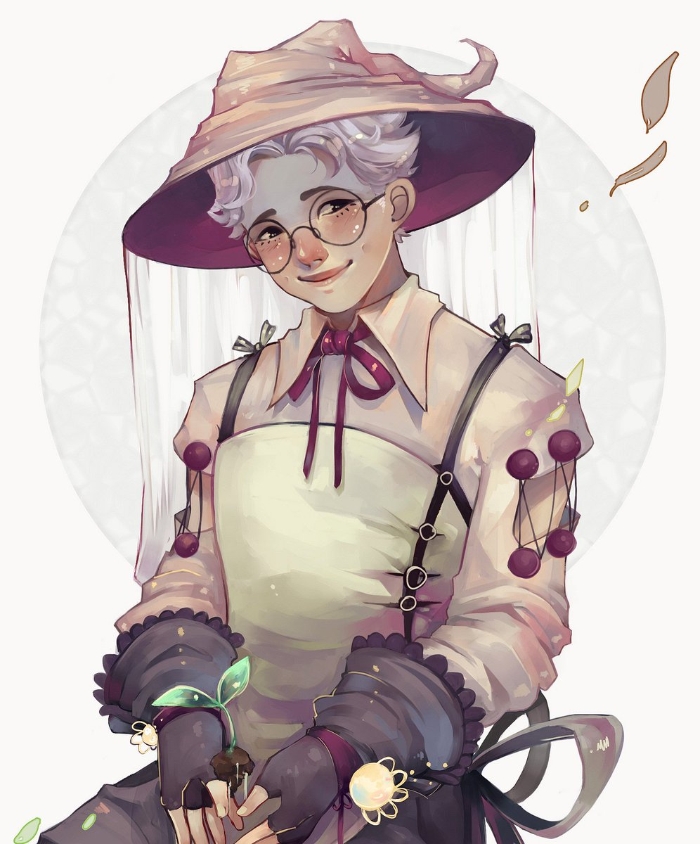Herbalist!Namjoon   Unlike Jimin and Yoongi, Joonie can&#39;t use his magic, so he turned his passion for plants and gardening into his job instead   #btsfanart #Namjoon #RM<br>http://pic.twitter.com/ZCIMELPq60