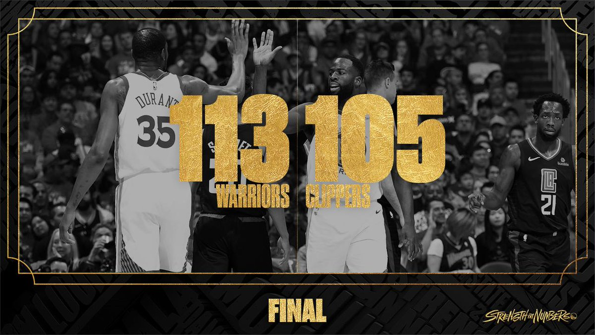 3 down. 13 to go.  Dubs lead the series 3-1.