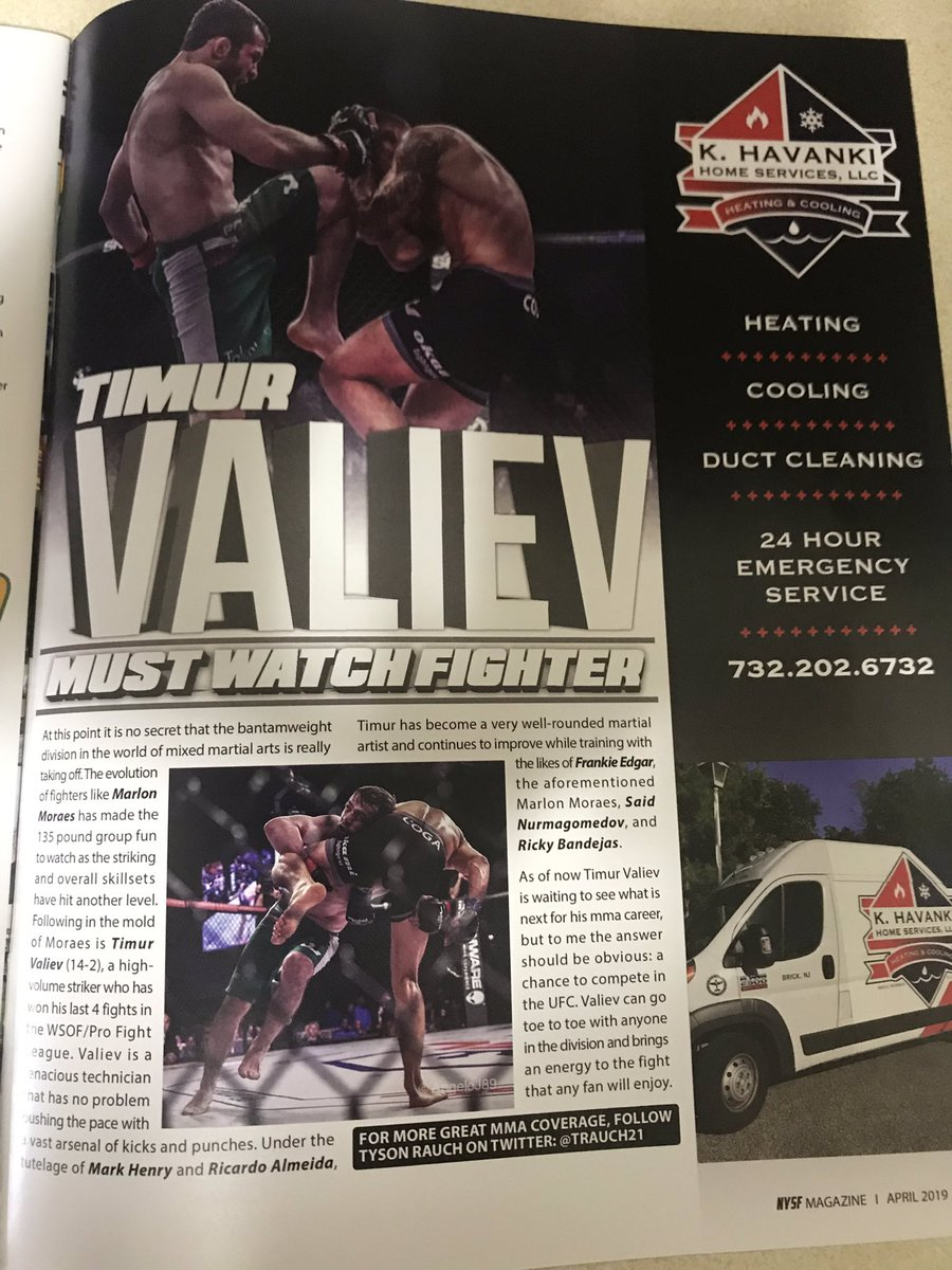 Check out my article on @timurvaliev_df in the latest edition of @NYSFmag .. #mma #ufc