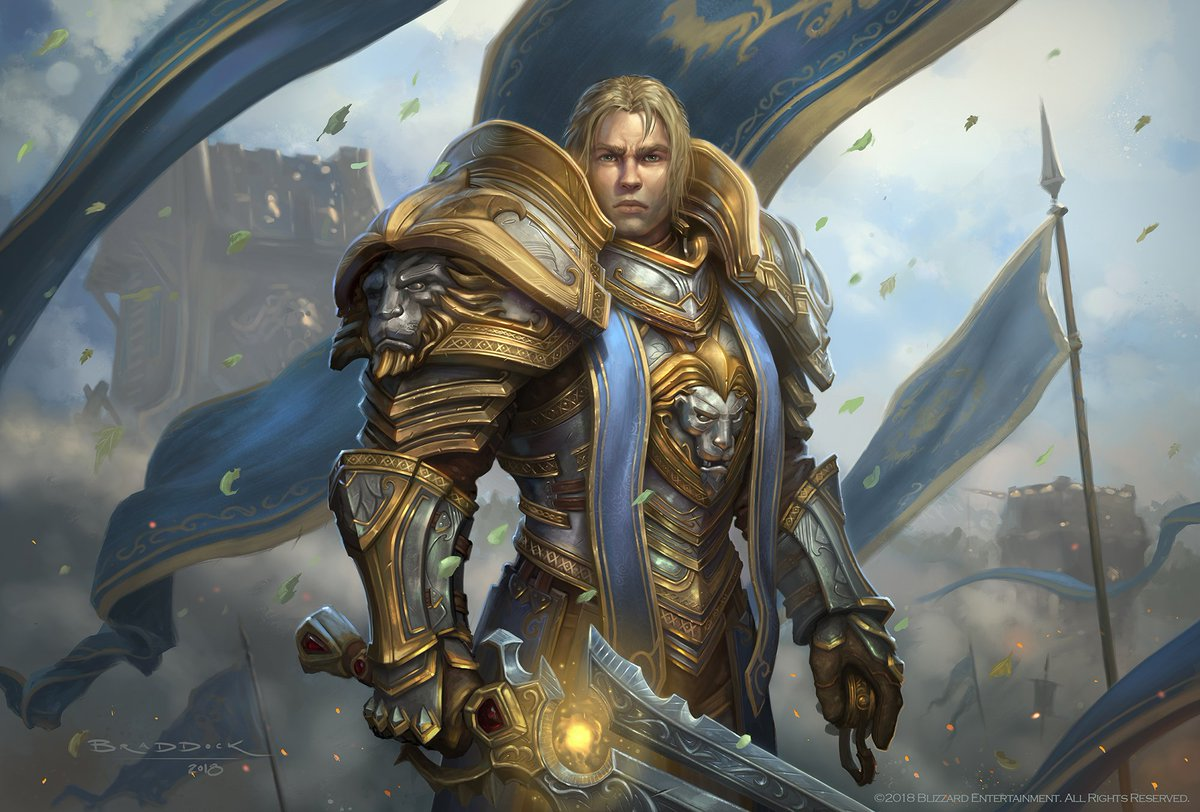 Meant to post this sooner, but I wanted to share this illustration of Anduin I did for @Warcraft Battle for Azeroth&#39;s release, used for @pcgamer magazine Cover US October 2018 issue. For the Alliance! #Anduin #BFA #Warcraft #BattleForAzeroth #WoW #Alliance #Illustration #gamedev<br>http://pic.twitter.com/QrsqWwn1lz