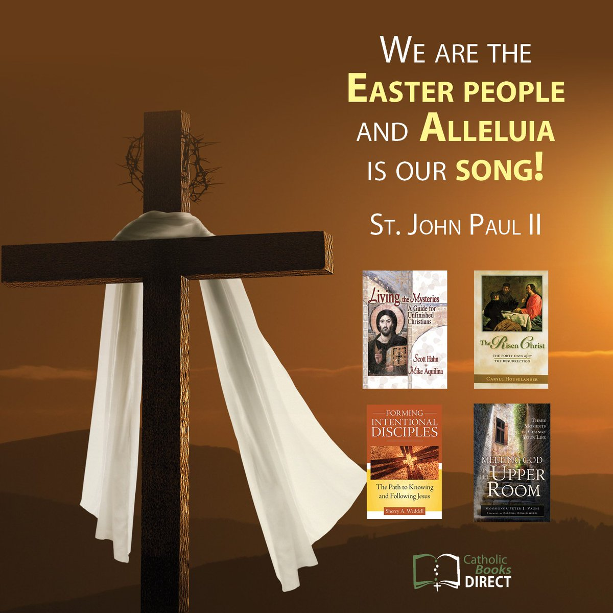 Happy #Easter from @CathBooksDirect! May this Easter season be the start of new beginnings and new life in Christ for you. Check out some of our titles on the Risen Christ, the early Church and discipleship. #Catholic #Easter2019 - https://mailchi.mp/5fabd5a17d7a/lent-challenge-867997…