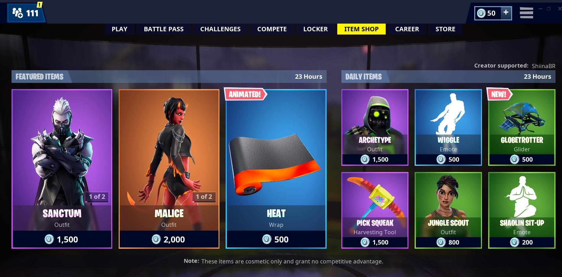 Shiinabr Fortnite Leaks On Twitter New Item Shop Support A