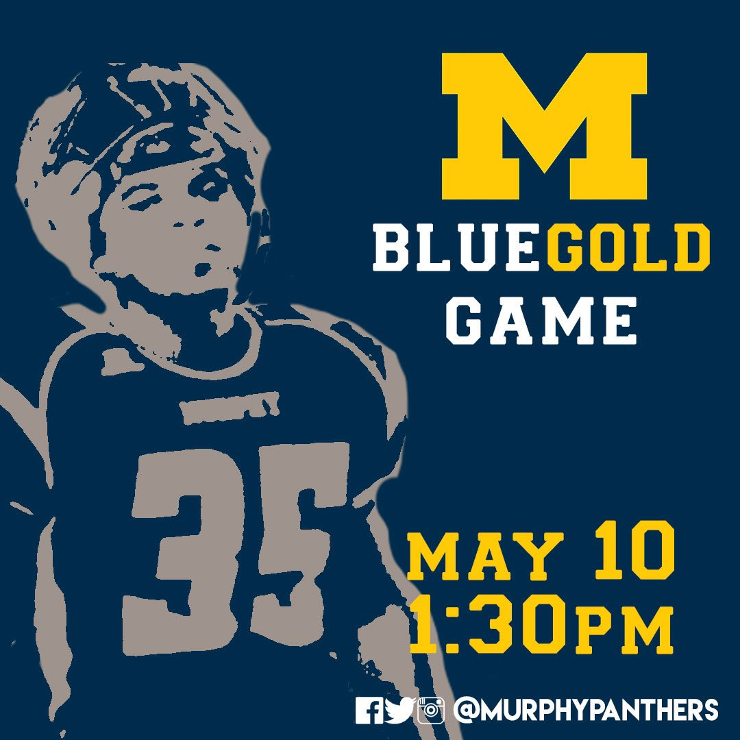 Join us for our annual Blue &amp; Gold game on Friday May 10, starting at 1:30pm! See the new Panthers in action &amp; celebrate former greats!  #murphy #pantherpride<br>http://pic.twitter.com/myFUK2glaJ