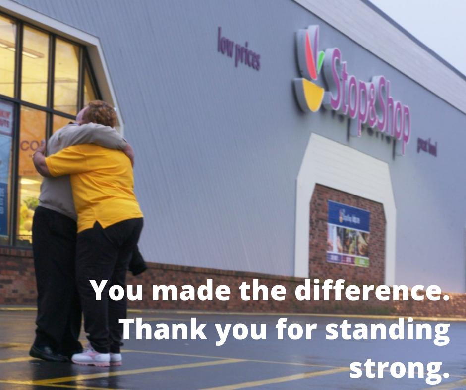 #StopAndShopWorkers sent a message to their company by collectively standing up for themselves, their families, & good jobs, that resonated not only w/ the company, but all of America. Thank you to hardworking members at Stop & Shop for all you've done! http://ow.ly/bm3P30ouMe6