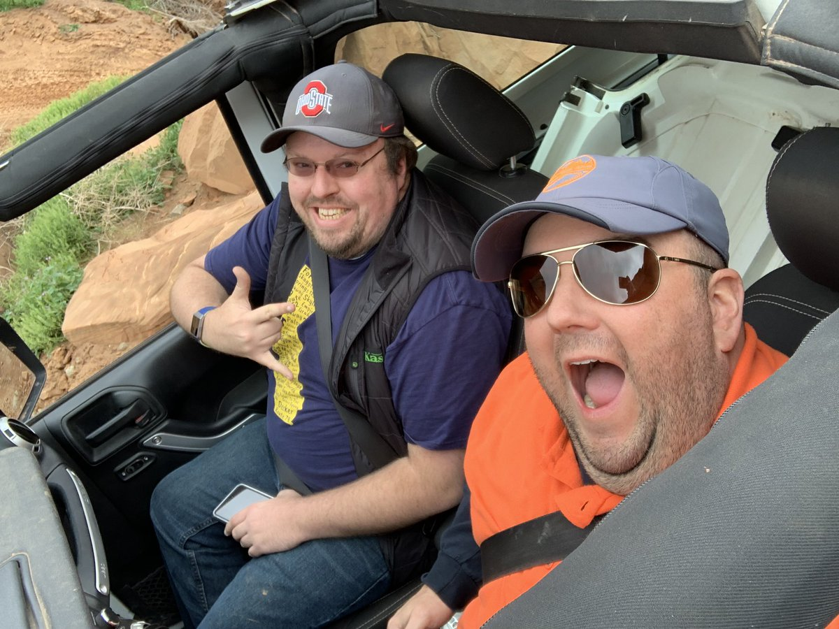 Awesome way to spend #Easter week is at the #EasterJeepSafari with @bfgoodrichtires and @chadkirchner - #offroad with a #Jeep in #Moab is the best way to spend any day.  #builtonbfg <br>http://pic.twitter.com/om32tMK541